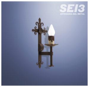 Lamparas y apliques de Forja Sei3 Iluminación Artesanal